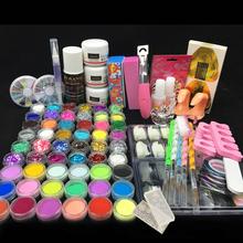 Nail Acrylic liquid power colors glitter clipper primer file nail art tips tool brush tools kit set acrylic 2901(China (Mainland))