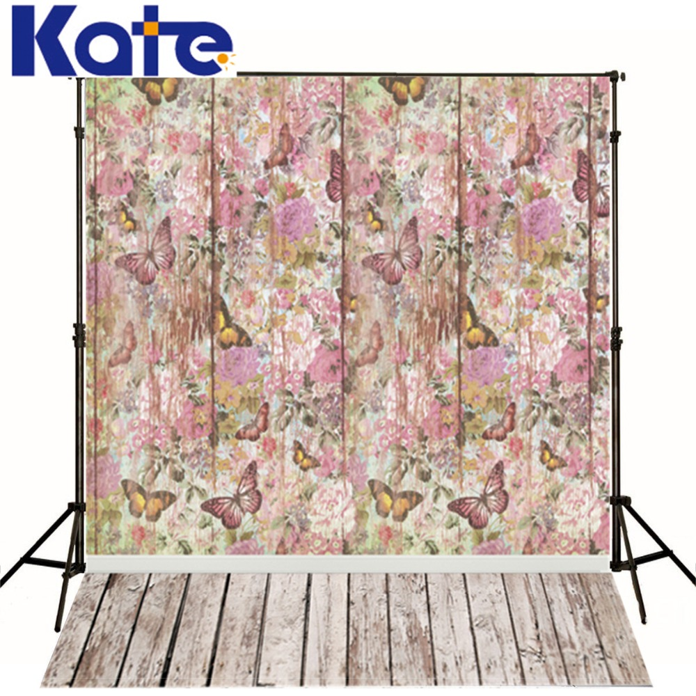 Photo Studio Baby Backdrop Retro Butterfly Wallpaper Wood Photograph Background 5x7ft(150x220cm)<br><br>Aliexpress