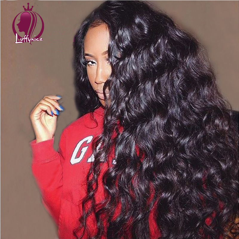 Здесь можно купить  LF Glueless front Lace Human Hair Wigs For Black Women 130% Density Brazilian Virgin Hair Body Wave Lace Front Human Hair Wigs  Волосы и аксессуары