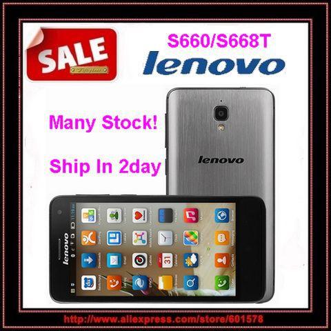 "Original Lenovo S660 S668T MTK6582 Quad Core 4.7"" IPS Screen 1GB RAM 8GB ROM 8.0MP Camera Android 4.2 Dual SIM WCDMA(Hong Kong)"