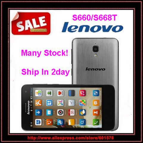"Original Lenovo S660 S668T MTK6582 Quad Core 4.7"" IPS Screen 1GB RAM 8GB ROM 8.0MP Camera Android 4.2 Dual SIM WCDMA(Hong Kong)"