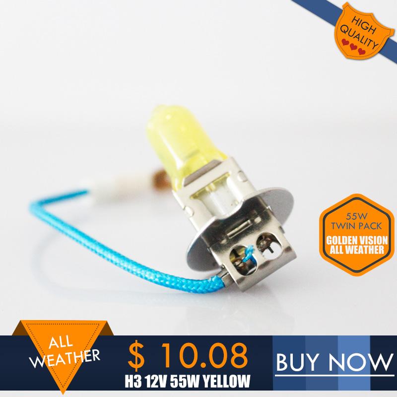 30% More Light All Weather H3 12V 55W Fog Breaker 2600K Yellow Golden Vision Fog Spot Light Bulb 2PCS/SET(China (Mainland))