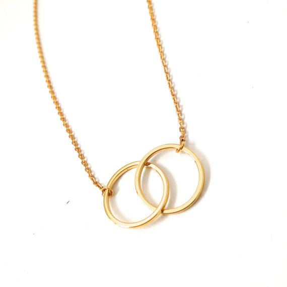 10 PCS Wholesale for Neckalce Gold and Silver Infinity Double Rings Necklace for Girl Interlocking Circles Pendant Necklace N184<br><br>Aliexpress