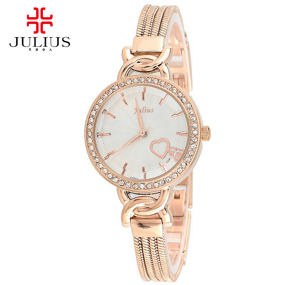 Women luxury rhinestone wristwatch Womens dress bracelet watches Fashion casual Japan quartz watch Gold silver Julius 784 clocks<br><br>Aliexpress