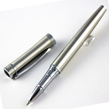 Fashion gentleman stainless steel roller ball pen School Office Stationery mon brand writing pen(China (Mainland))