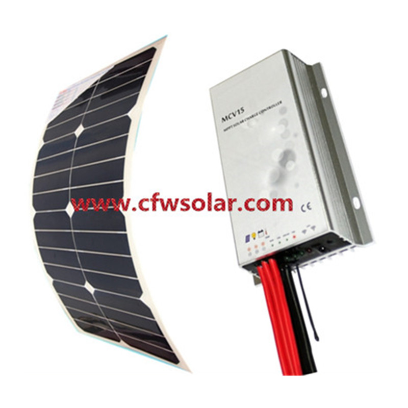 flexible solar panels for boats with connection Box + 0.9M cable, MC4 connector, 12V&amp;24V Auto MPPT solar charege controller.<br><br>Aliexpress