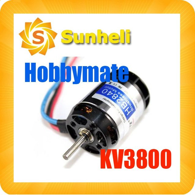 Hobbymate HB2840H 3800Kv Brushless Motor For 450 RC Helicopters HB2840H  FOR ALIGN KDS - TREX 450 6CH RADIO CONROL