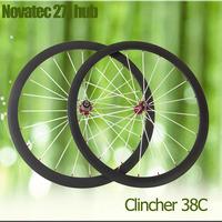 700C bicycle wheelset road bike wheelset clincher 38mm carbon wheels full carbon fiber bike wheelset