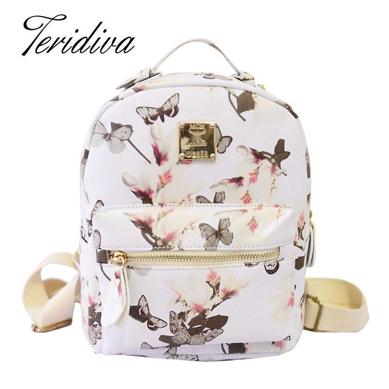 Print Backpack 2016 College Style Women's Backpack School Bags for Teenagers Ladies Bag Women Mochila Feminina Shoulder Bag(China (Mainland))