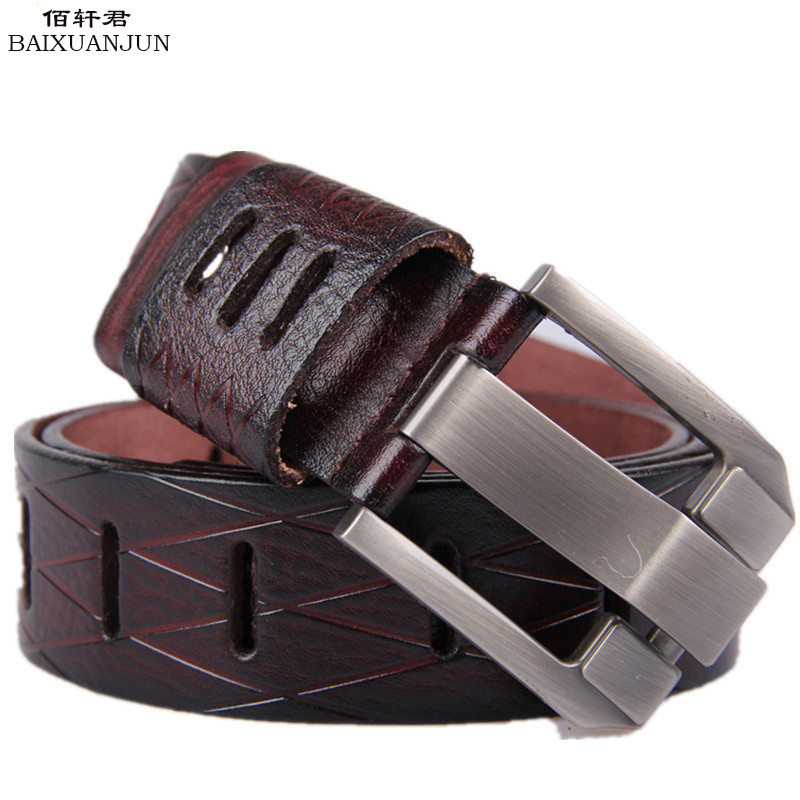 [BAIXUANJUN] men's belts 2016 new high quality men's casual leather belt brand 100% pure leather belt jeans belt(China (Mainland))