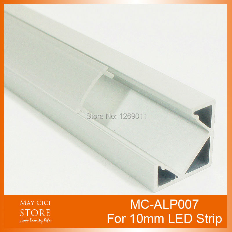 0.5M Recessed Aluminum LED Channel Aluminium LED Lighting Profile triangle Using for Strip within 10mm Width(China (Mainland))