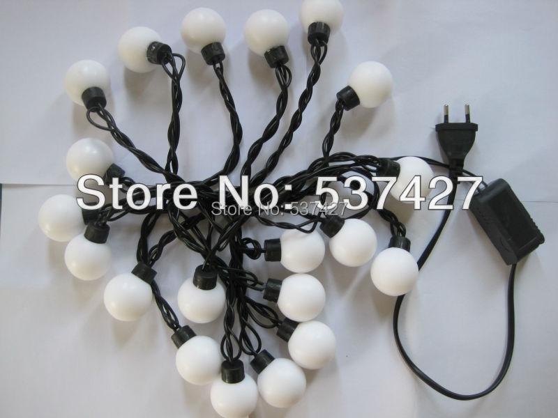 Free Shipping 4W Christmas Tree Decoration, Modeling String Light Super Big Ball, AC110~220V Input, 20Pcs LED 6 Meter a Set(China (Mainland))