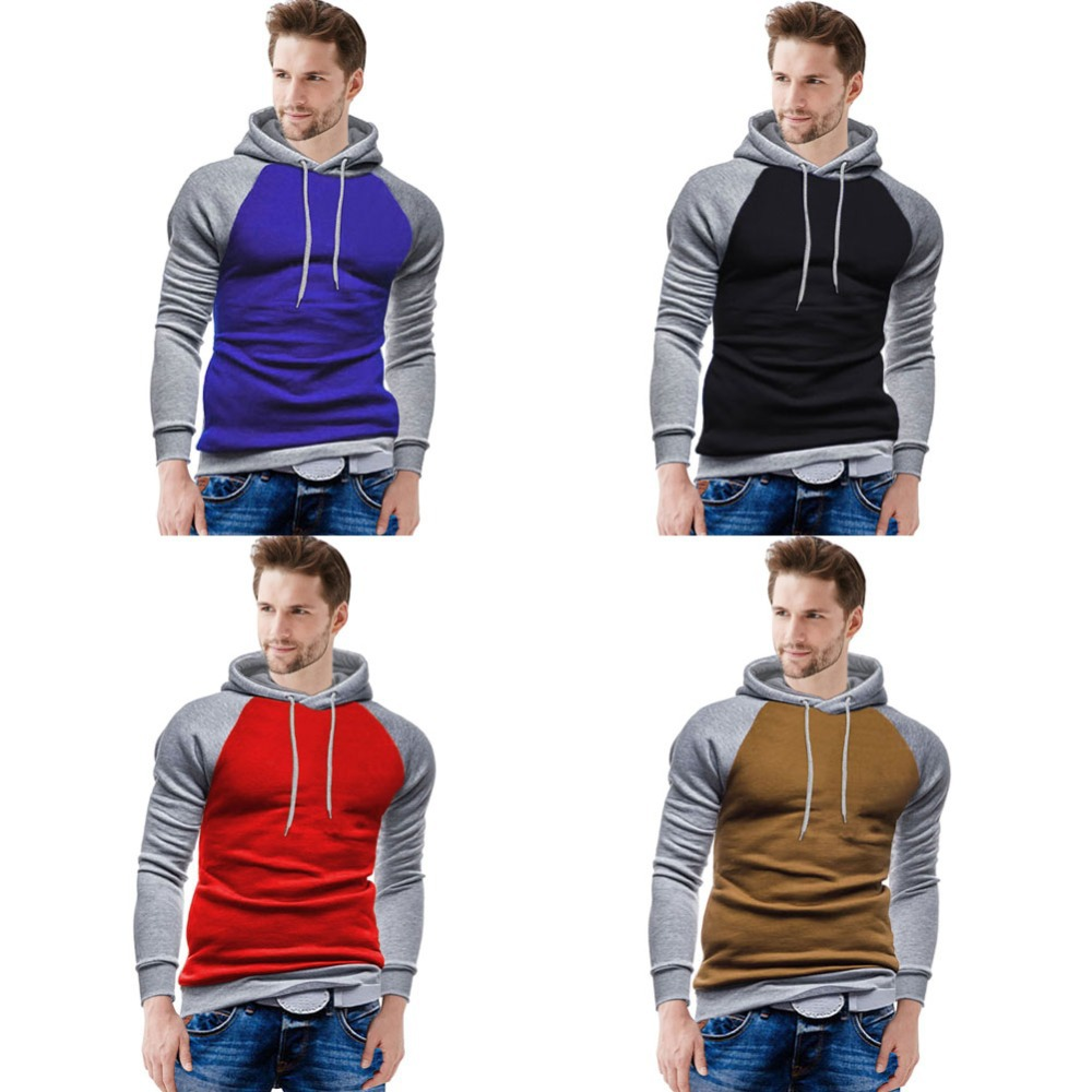 2015 New Fashion Winter&Autumn Men Hoodies Sweatshirts Casual Hooded Coats Jacket Slim Pullover Active Sport Coat Outerwear W001(China (Mainland))