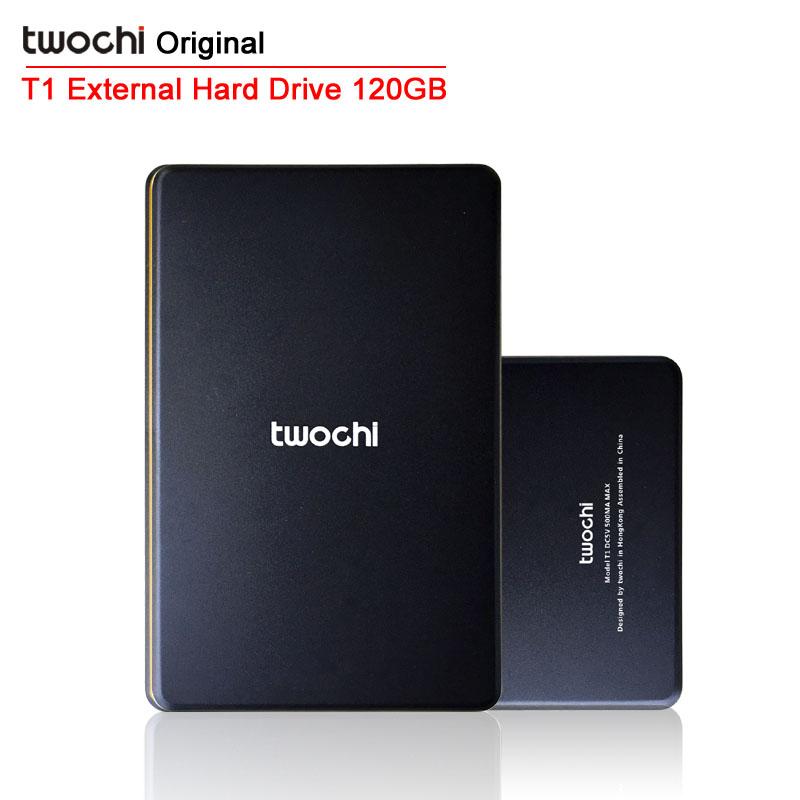 Бесплатная доставка 2015 Новый стиль 2.5 дюймов Twochi USB2.0 HDD 120 г тонкий внешний жесткий диск портативный дисковое хранилище опт и розница