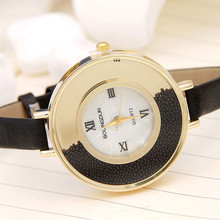 2016 newest  fashion women's full diamond crystal leather band women's quartz watches (China (Mainland))