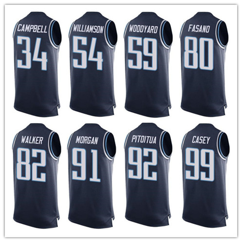 Men's #34 Earl Campbell Avery Williamson Wesley Woodyard Delanie Walker Jurrell Casey Derrick Morgan Limited Tank Top Jerseys!(China (Mainland))
