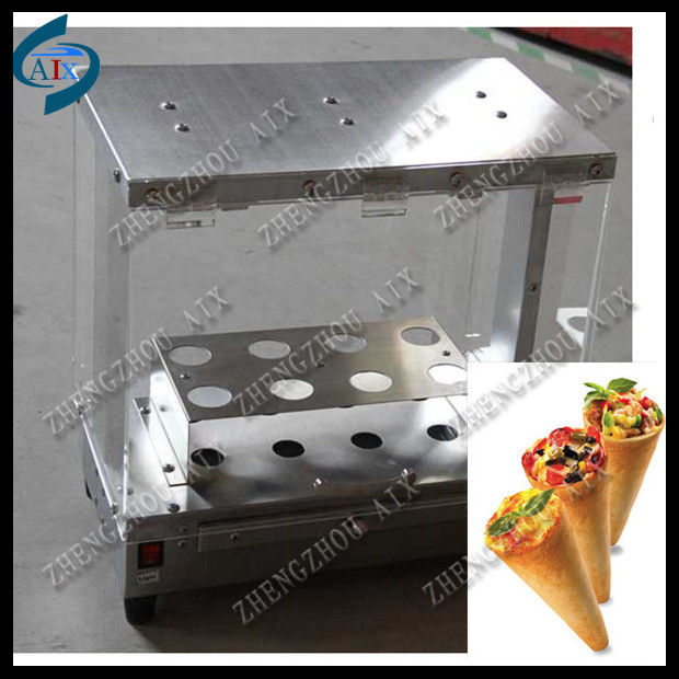 snack shop used 8pcs/time pizza cone display cabinet(China (Mainland))