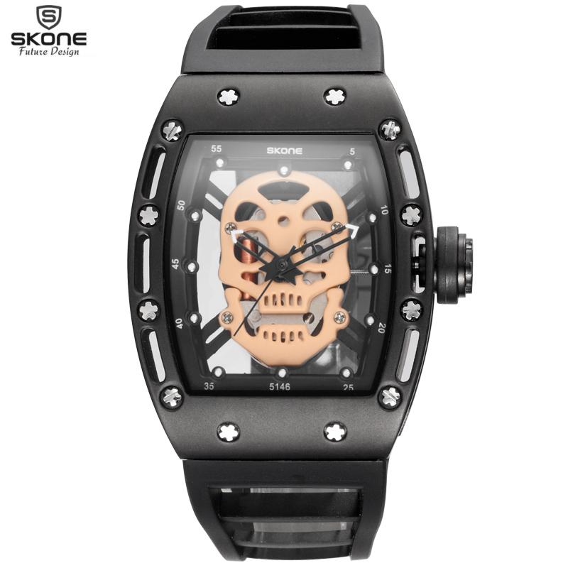 SKONE Brand Fashion Men's Hollow Silicone Strap Sport Watches for male Special Design Quartz Wristwatches Relogio Masculino New(China (Mainland))