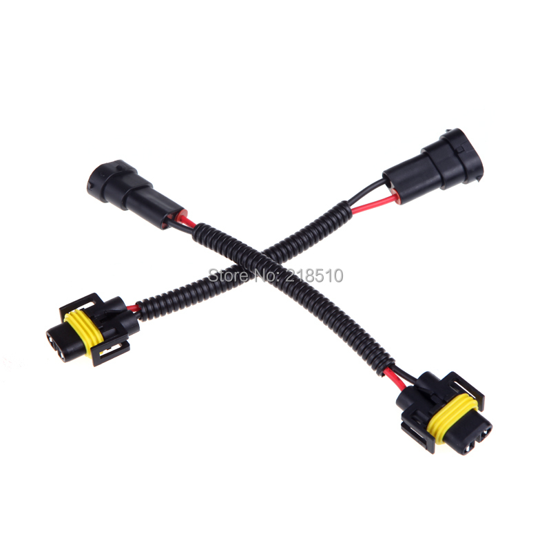 aliexpress buy 2pcs h8 h9 h11 wiring harness socket car wire connector cable adapter