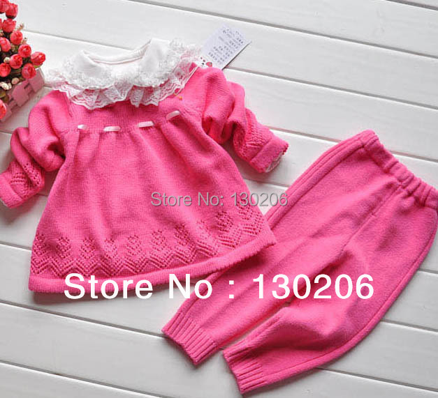 Baby Girls cotton sweaters suit spring and autumn new style fashion beautiful sweater children girls sweater children's sets()
