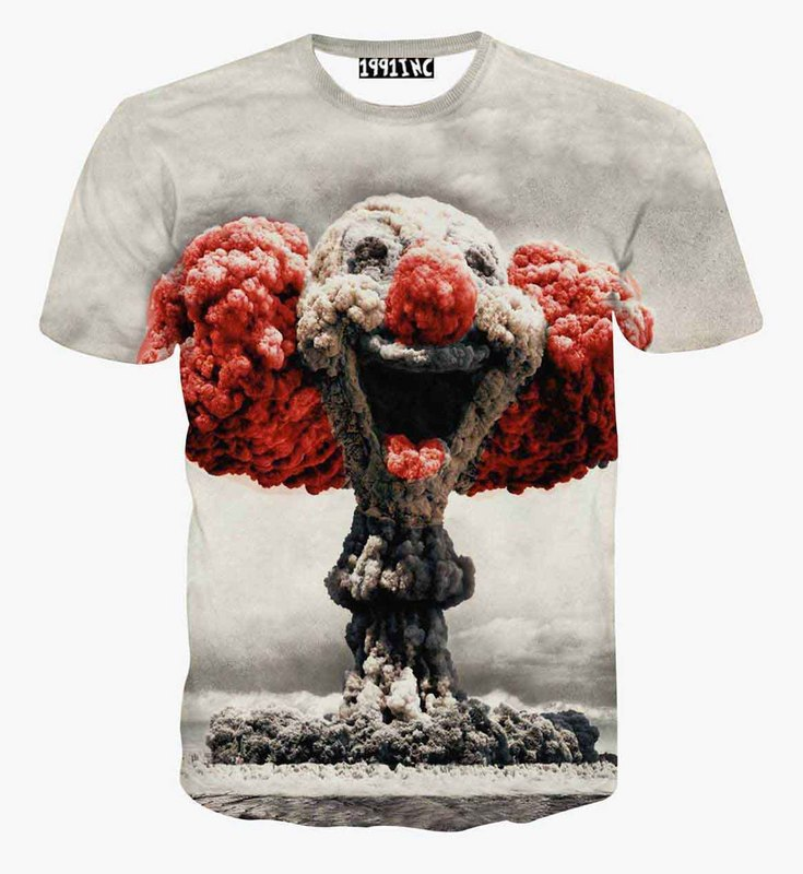 2015 selling one piece Einstein fitness t-shirt for men/boy dsq t shirt 3d Print swag Atomic clouds short sleeve tshirt summer(China (Mainland))