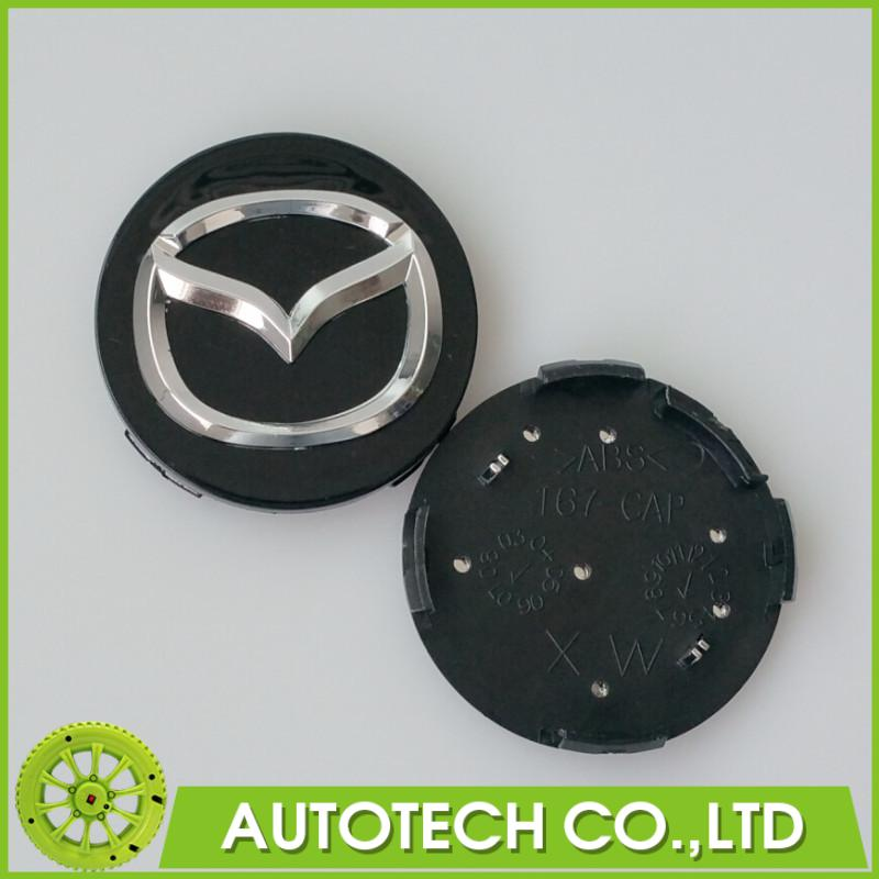 4Pcs/lot 56mm Black Mazda Car Wheel Center Hub Cap Badge Emblem Wheel Dust-proof Covers<br><br>Aliexpress
