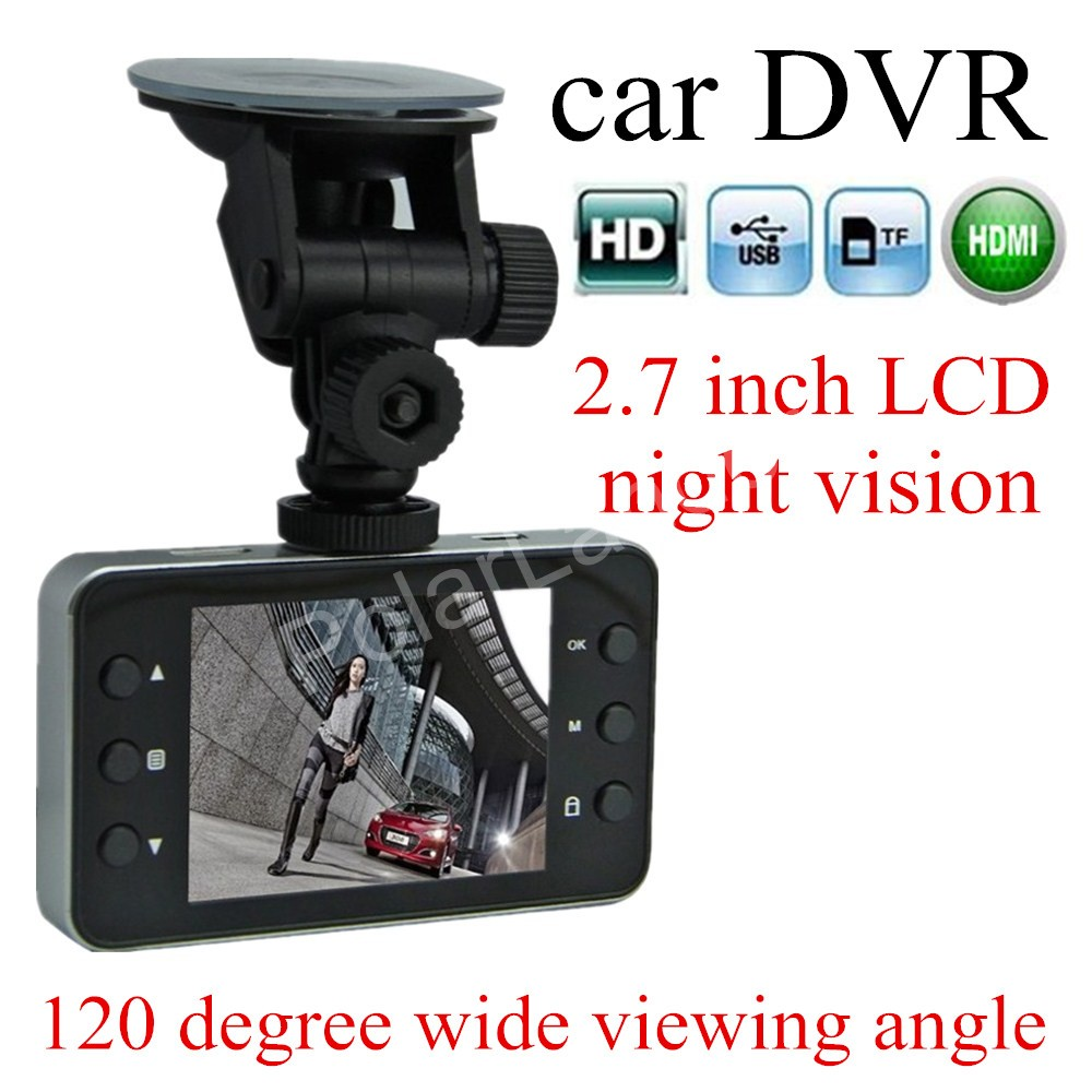 IR Night vision Full HD 1080P K6000 Car DVR Video Camera Recoder HDMI motion Detection 120 degree wide viewing angle(China (Mainland))
