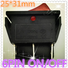 Buy 2pcs G128 RED LED Light 25*31mm SPST 6PIN ON/OFF Boat Rocker Switch 16A/250V 20A/125V Car Dash Dashboard Truck RV ATV Sell Loss for $1.20 in AliExpress store