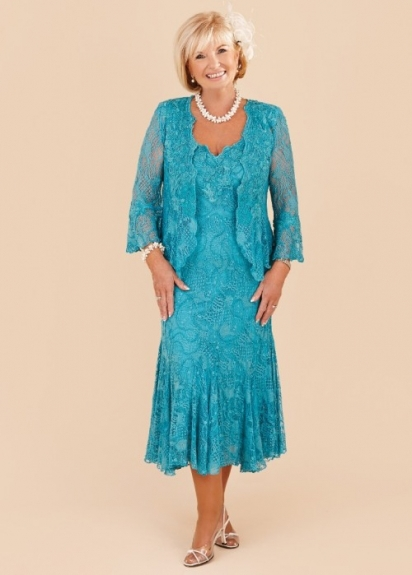 Plus size turquoise mother of the bride lace dresses 2015 for Plus size party dresses for weddings in india