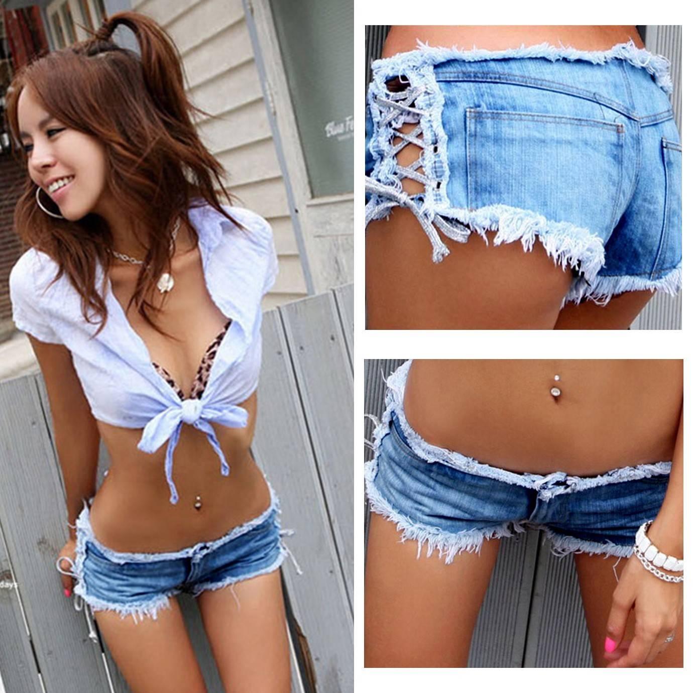 Смотреть фото коротких джинсовых шортиков для девушек
