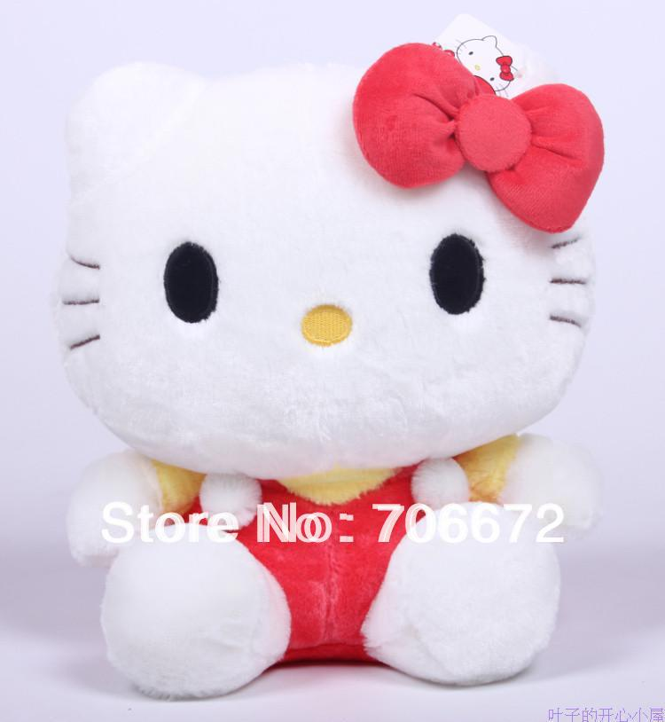 NEW STuffed animal red hello kitty plush toy 11 inch soft 28cm Toy free shipping wt103(China (Mainland))