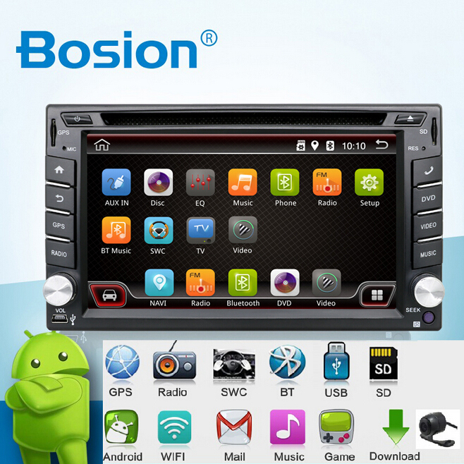 In Dash Android 4.4-CPU Double 2 Din Car radio GPS Navi DVD Player Stereo Headunit Video BT Car PC CD WiFi 3G car parking(China (Mainland))