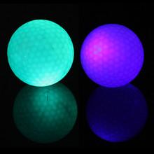 2 pz piccolo lampeggiante elettronico palline da golf di notte golf blu + colore verde us # v(China (Mainland))