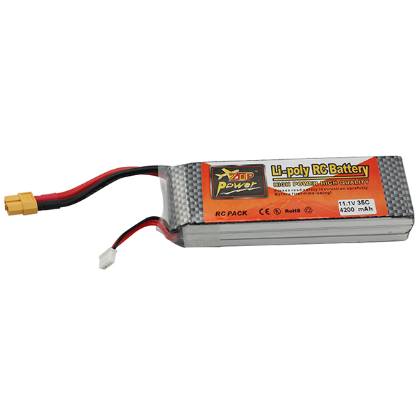 ZOP Power Lithium Li-polymer Li on Lipo Battery 11.1V 4200mAh 3S 35C XT60 Plug For RC Helicopter Qudcopter Drone Airplane<br><br>Aliexpress