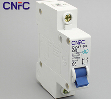 3PCS DZ47 1P 63A 230 400V 50 60HZ Miniature Circuit breaker DZ47 63 Overload protector