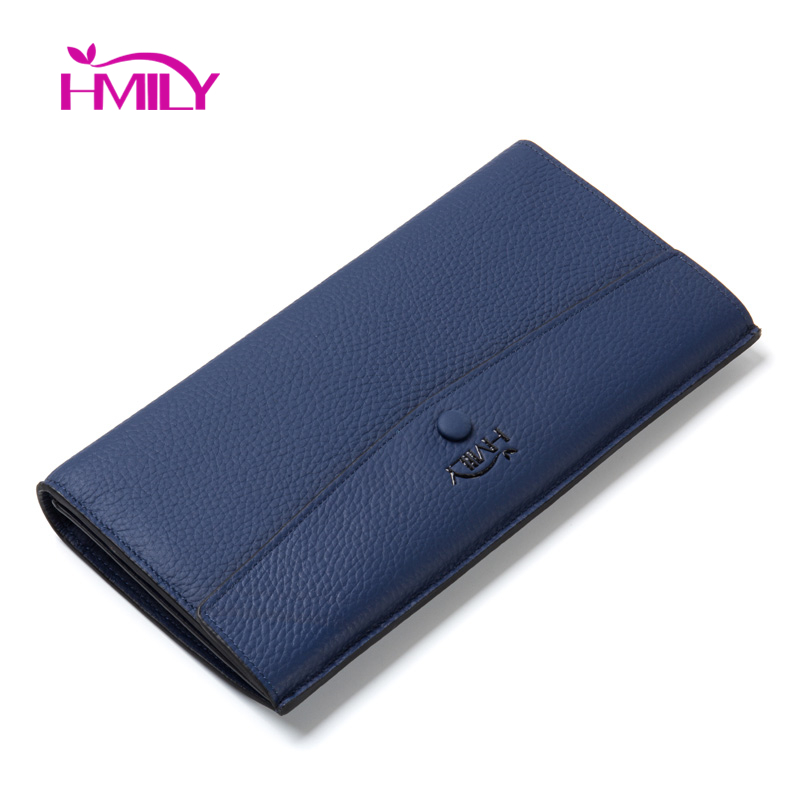 HMILY Luxury Design Wallet For Women Genuine Cow Leather Ladies Purse Bag High Quality Mini Laies Daily Clutch Long Money Clip(China (Mainland))