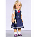 2 Pcs Set 1 T shirt 1 Dress for 18 Inch American Girl Dolls New Style