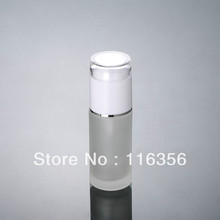 60ML  frosted glass bottle with white lid,  lotion bottle for cosmetic packaging