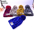 5 Colors Winter Women Men Hats Caps Blue Coffee Red Thick Warm Celebrity Knit Crochet Ski