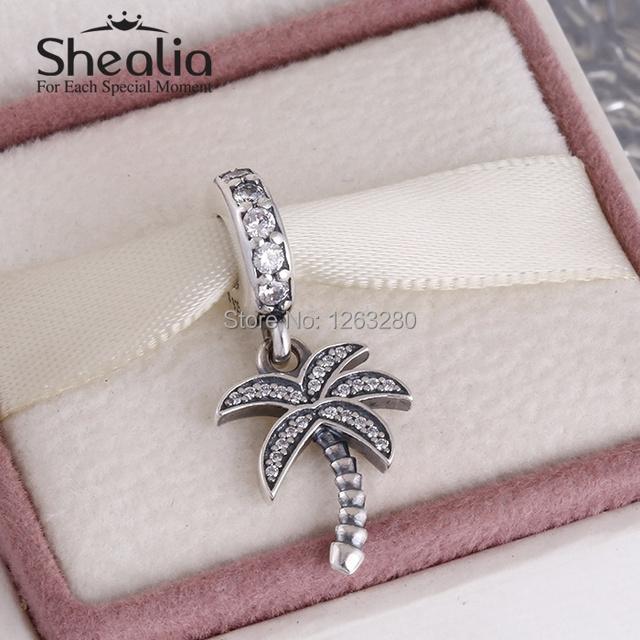 Лето коллекция 925 чистое серебро вымощает palm вал мотаться подвески-талисманы с камнями shealia ювелирные изделия подходит бренд своими руками браслеты DG153