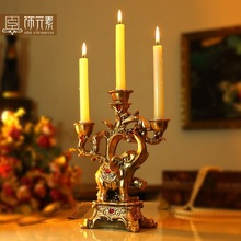 lucky elephant fashion classical decoration romantic dining table gift candle stand holder 18*8*24CM(China (Mainland))