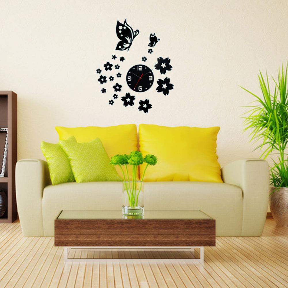 Orologi da parete cucina fiori - Specchio design da parete ...