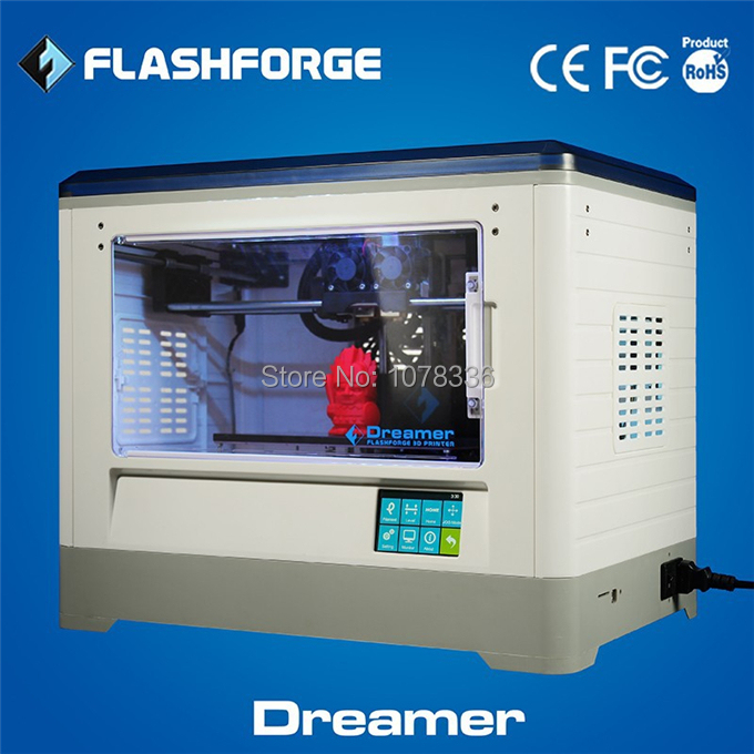 Dual Extruders 3D Printer Flashforge Dreamer touchscreen WI-FI function closed casing Thermostat System lasted model CE ISO9001(China (Mainland))