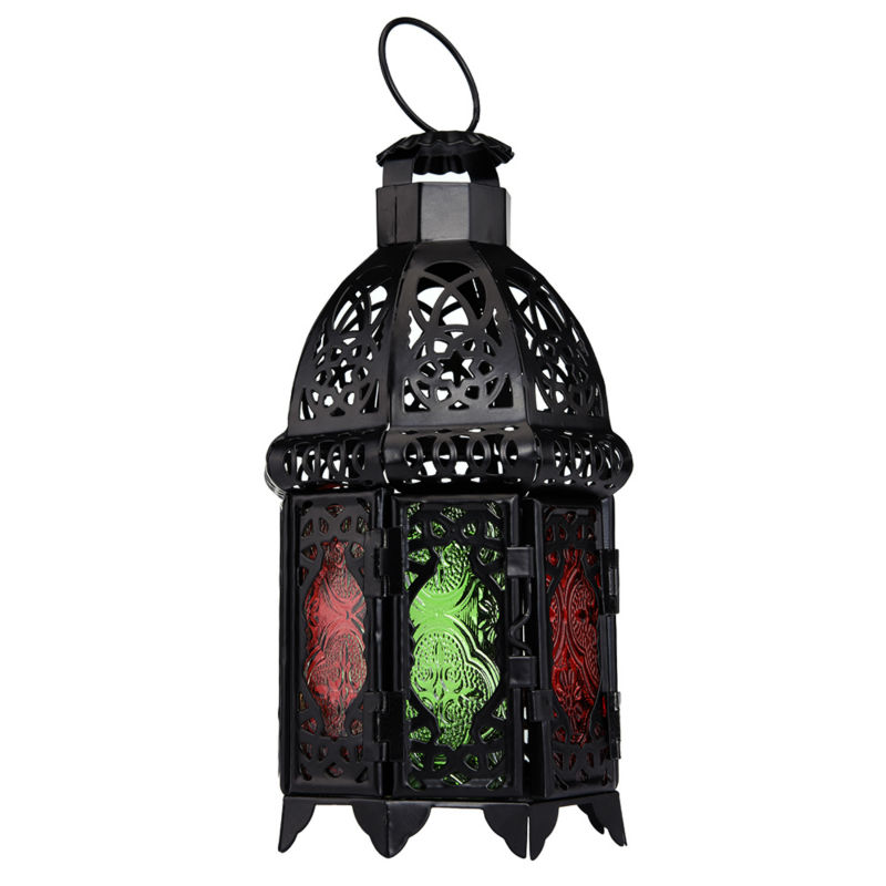 Candle Lantern Holder Candlestick Classic Home Decoration For Christmas Wedding Decor Candles Hanging Holder Multicolor Glass(China (Mainland))
