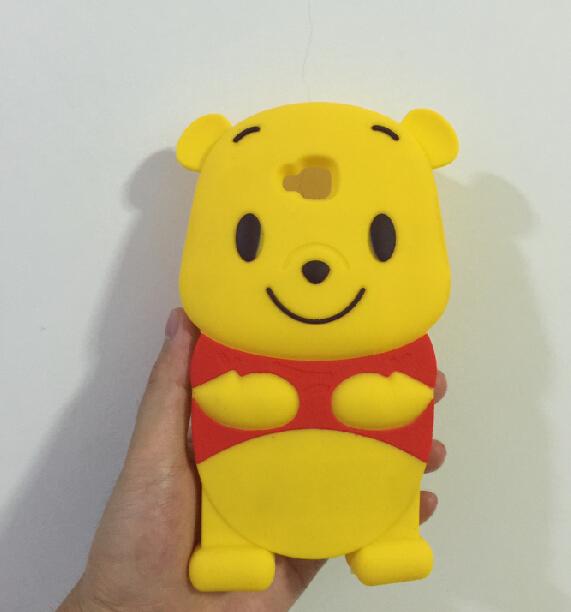 Cute 3D Winnie Bear Soft Silicone Back Cover Case LG G Pro Lite D680 Dual D686 - ALEX ZHOU Store store