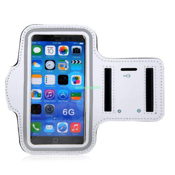 """white sport gym armband case running jogging cover pouch for apple iphone 6 4.7"""" EP9905 Armband For Apple iPhone 6(China (Mainland))"""