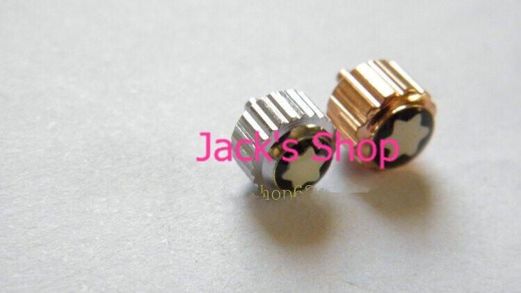 Бесплатная Доставка 1 шт. 9 mmThick Нержавеющая Сталь Серебро и Розовое Золото Механические Часы Корона для Ремонта Часов