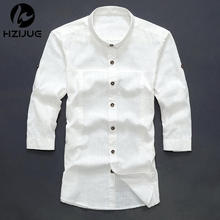 2015 Summer New Casual Long Sleeved Shirt Slim Fashion Chinese Style Placket Men s Shirt Linen