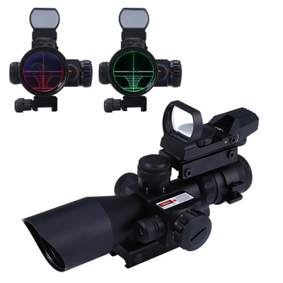 2016 Hunting 2.5 - 10X40 Tactical Riflescope Red / Green Laser Dual Illuminated Scope Mil-dot 20mm Rail Mount, A16976160(China (Mainland))