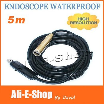 10pcs/lot 5M Waterproof USB Snake Video Inspection digital Camera Endoscope Borescope with 4 LED wired camera